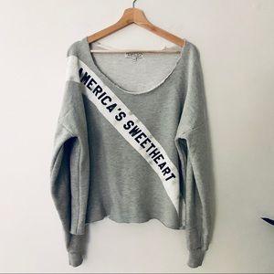 Wildfox America's Sweetheart Gray Sweatshirt
